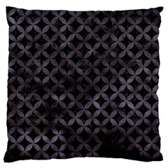 Circles3 Black Marble & Black Watercolor Large Cushion Case (two Sides) by trendistuff