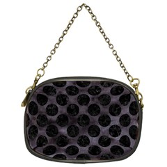 Circles2 Black Marble & Black Watercolor (r) Chain Purse (one Side) by trendistuff