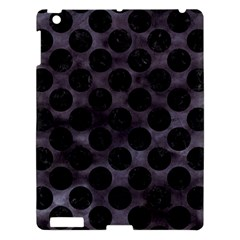 Circles2 Black Marble & Black Watercolor (r) Apple Ipad 3/4 Hardshell Case by trendistuff