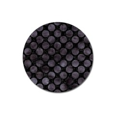 Circles2 Black Marble & Black Watercolor Magnet 3  (round) by trendistuff
