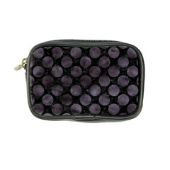Circles2 Black Marble & Black Watercolor Coin Purse by trendistuff