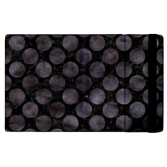 Circles2 Black Marble & Black Watercolor Apple Ipad 2 Flip Case by trendistuff