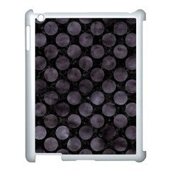 Circles2 Black Marble & Black Watercolor Apple Ipad 3/4 Case (white) by trendistuff