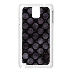 Circles2 Black Marble & Black Watercolor Samsung Galaxy Note 3 N9005 Case (white) by trendistuff