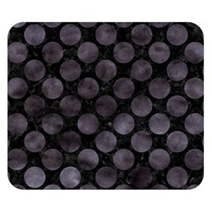 Circles2 Black Marble & Black Watercolor Double Sided Flano Blanket (small) by trendistuff