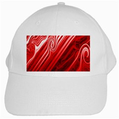 Red Abstract Swirling Pattern Background Wallpaper White Cap by Simbadda