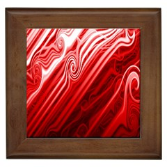 Red Abstract Swirling Pattern Background Wallpaper Framed Tiles by Simbadda