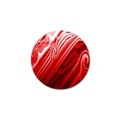 Red Abstract Swirling Pattern Background Wallpaper Golf Ball Marker (4 Pack) by Simbadda