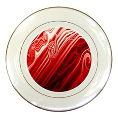 Red Abstract Swirling Pattern Background Wallpaper Porcelain Plates by Simbadda