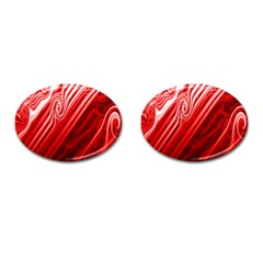 Red Abstract Swirling Pattern Background Wallpaper Cufflinks (oval) by Simbadda