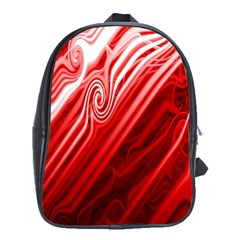 Red Abstract Swirling Pattern Background Wallpaper School Bags(large)  by Simbadda