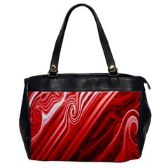 Red Abstract Swirling Pattern Background Wallpaper Office Handbags by Simbadda