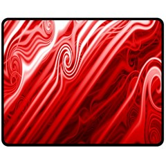 Red Abstract Swirling Pattern Background Wallpaper Fleece Blanket (medium)  by Simbadda