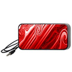 Red Abstract Swirling Pattern Background Wallpaper Portable Speaker (black) by Simbadda