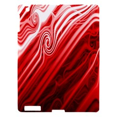 Red Abstract Swirling Pattern Background Wallpaper Apple Ipad 3/4 Hardshell Case by Simbadda