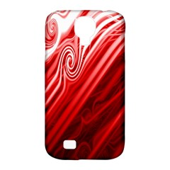 Red Abstract Swirling Pattern Background Wallpaper Samsung Galaxy S4 Classic Hardshell Case (pc+silicone) by Simbadda