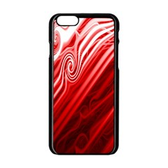 Red Abstract Swirling Pattern Background Wallpaper Apple Iphone 6/6s Black Enamel Case by Simbadda