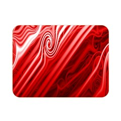 Red Abstract Swirling Pattern Background Wallpaper Double Sided Flano Blanket (mini)  by Simbadda