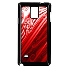 Red Abstract Swirling Pattern Background Wallpaper Samsung Galaxy Note 4 Case (black)