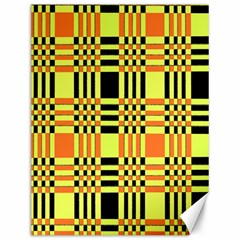 Yellow Orange And Black Background Plaid Like Background Of Halloween Colors Orange Yellow And Black Canvas 12  X 16   by Simbadda