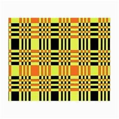 Yellow Orange And Black Background Plaid Like Background Of Halloween Colors Orange Yellow And Black Small Glasses Cloth (2 Side) by Simbadda
