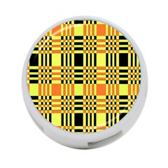Yellow Orange And Black Background Plaid Like Background Of Halloween Colors Orange Yellow And Black 4 Port Usb Hub (one Side) by Simbadda