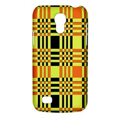 Yellow Orange And Black Background Plaid Like Background Of Halloween Colors Orange Yellow And Black Galaxy S4 Mini by Simbadda