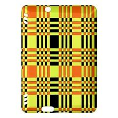Yellow Orange And Black Background Plaid Like Background Of Halloween Colors Orange Yellow And Black Kindle Fire Hdx Hardshell Case by Simbadda