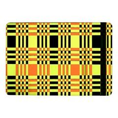 Yellow Orange And Black Background Plaid Like Background Of Halloween Colors Orange Yellow And Black Samsung Galaxy Tab Pro 10 1  Flip Case by Simbadda