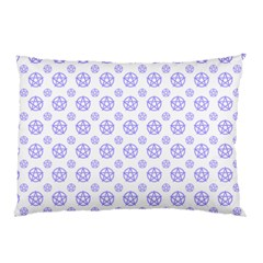 White And Lilac Pentacle Pagan Wiccan Pillow Case (two Sides) by cheekywitch