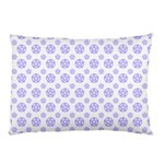 White and Lilac Pentacle Pagan Wiccan Pillow Case (Two Sides)