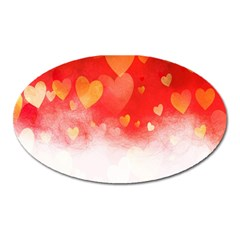 Abstract Love Heart Design Oval Magnet by Simbadda