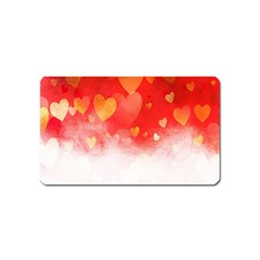 Abstract Love Heart Design Magnet (name Card) by Simbadda