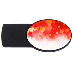 Abstract Love Heart Design Usb Flash Drive Oval (4 Gb) by Simbadda