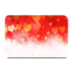 Abstract Love Heart Design Plate Mats by Simbadda