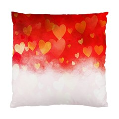 Abstract Love Heart Design Standard Cushion Case (one Side) by Simbadda
