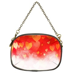 Abstract Love Heart Design Chain Purses (two Sides)  by Simbadda