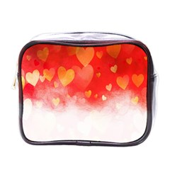 Abstract Love Heart Design Mini Toiletries Bags by Simbadda