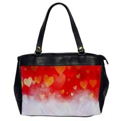 Abstract Love Heart Design Office Handbags by Simbadda