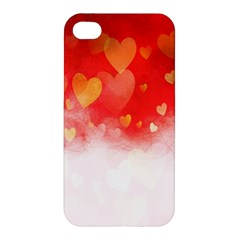 Abstract Love Heart Design Apple Iphone 4/4s Hardshell Case by Simbadda