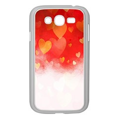 Abstract Love Heart Design Samsung Galaxy Grand Duos I9082 Case (white) by Simbadda