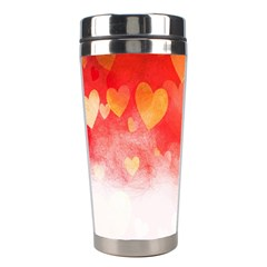 Abstract Love Heart Design Stainless Steel Travel Tumblers by Simbadda