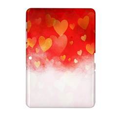 Abstract Love Heart Design Samsung Galaxy Tab 2 (10 1 ) P5100 Hardshell Case  by Simbadda
