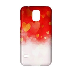 Abstract Love Heart Design Samsung Galaxy S5 Hardshell Case  by Simbadda