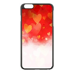 Abstract Love Heart Design Apple Iphone 6 Plus/6s Plus Black Enamel Case by Simbadda