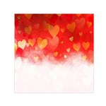 Abstract Love Heart Design Small Satin Scarf (Square) Front