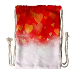 Abstract Love Heart Design Drawstring Bag (large) by Simbadda