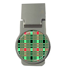 Bright Christmas Abstract Background Christmas Colors Of Red Green And Black Make Up This Abstract Money Clips (round)  by Simbadda