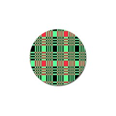 Bright Christmas Abstract Background Christmas Colors Of Red Green And Black Make Up This Abstract Golf Ball Marker by Simbadda