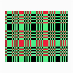 Bright Christmas Abstract Background Christmas Colors Of Red Green And Black Make Up This Abstract Small Glasses Cloth by Simbadda